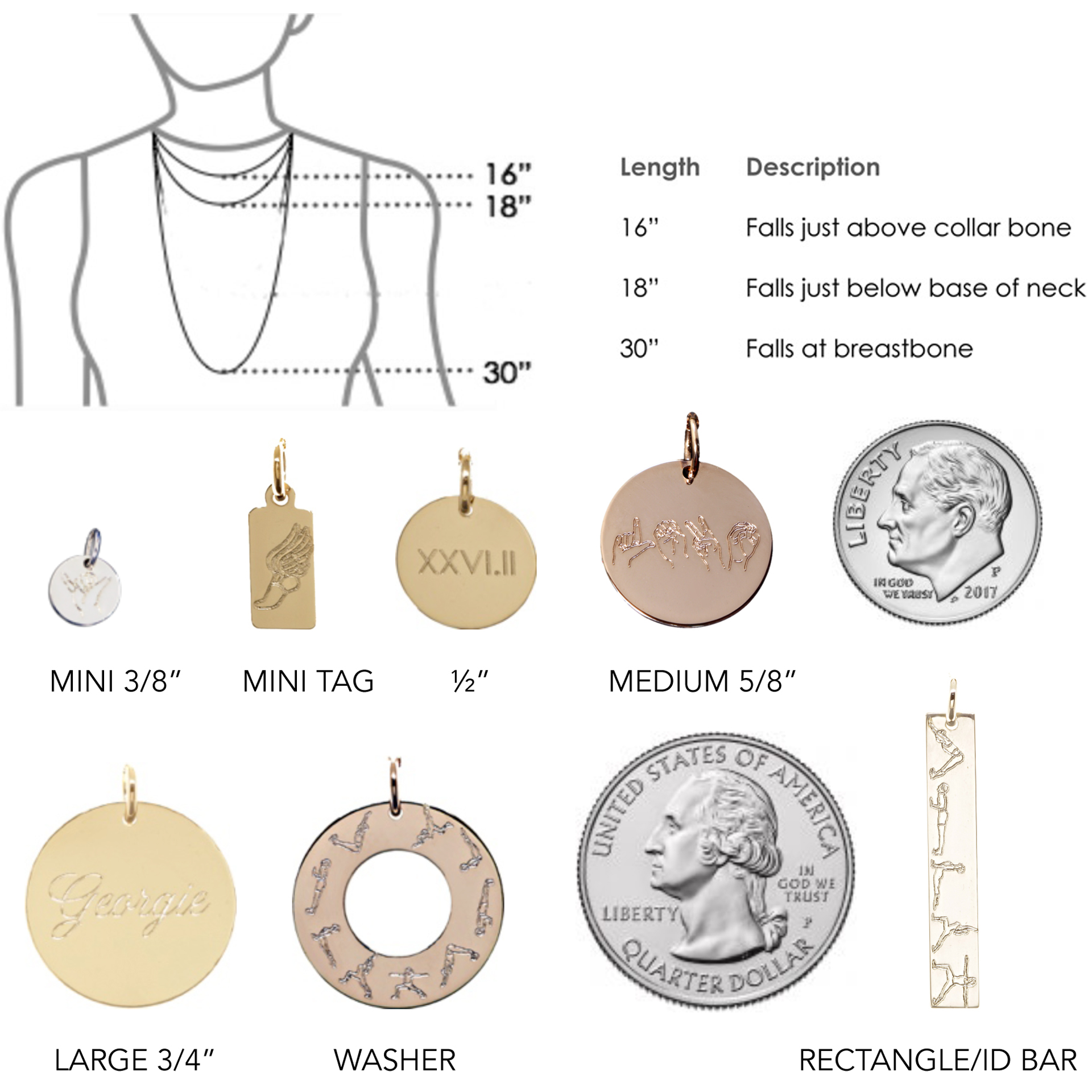 Erica Sara Designs sizing guide